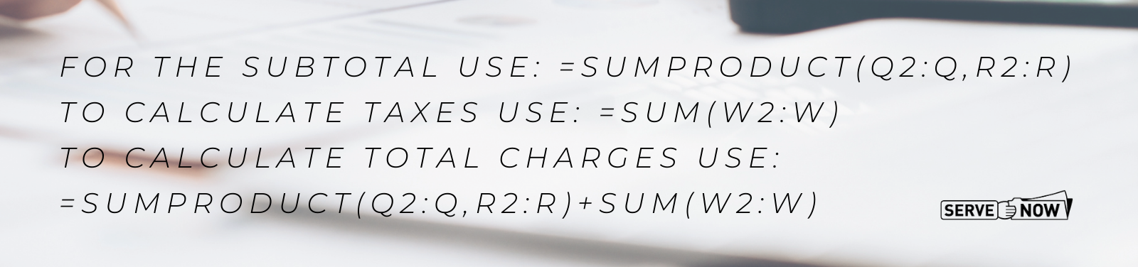 Spreadsheet Formulas