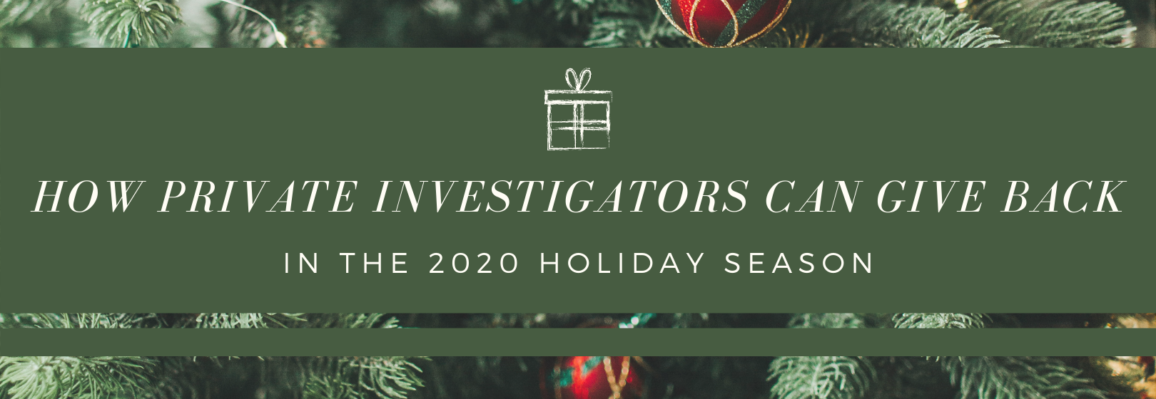 How Private Investigators Can Give Back in the 2020 Holiday Season
