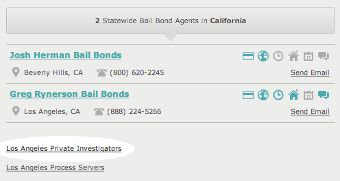 Private Investigators on AboutBail