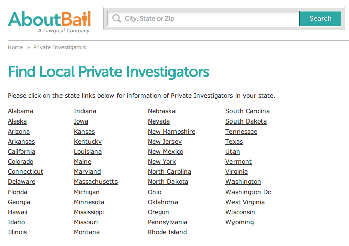 Find Local Private Investigators