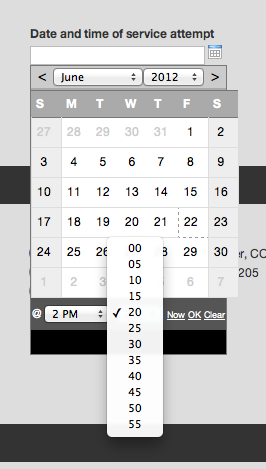 Legacy Date/Time Picker