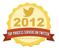 Top Process Servers on Twitter 2012