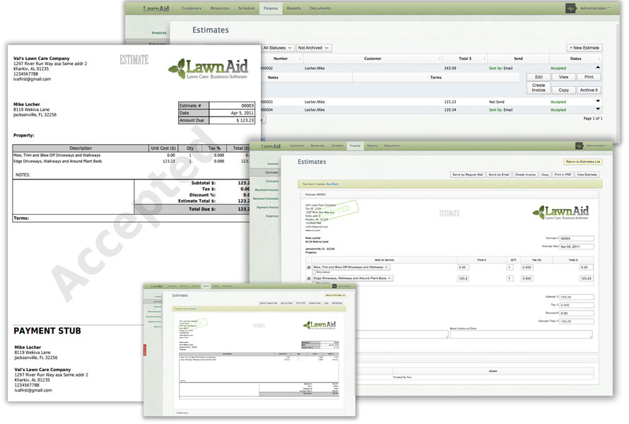 landscaping bid templates
