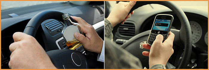 Southern California Personal Injury Lawyers ask: Was the other driver drinking or texting?