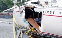 Image of a damages boat hull