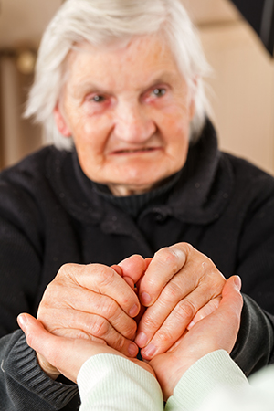 Image of an nursing home patient