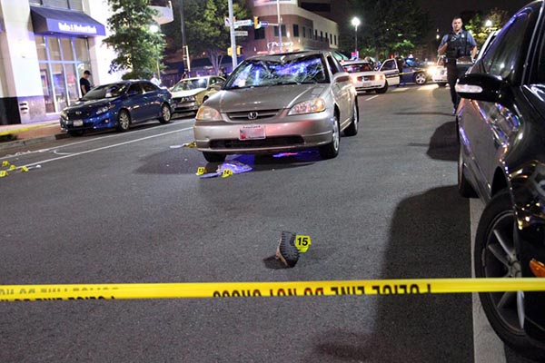 Image of the aftermath of a pedestrian accident