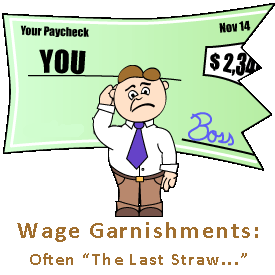 Wage Garnishments can STOP with a Bankruptcy Filing