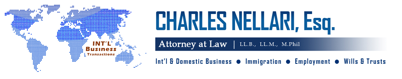 Charles Nellari - Attorney At Law, Business Law, Immigaration Law, Employment Law, Wills & Trusts