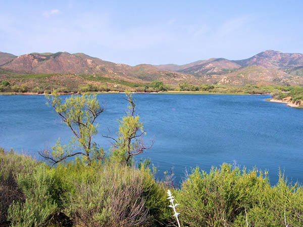 View of Lake Skinner in Murrieta CA