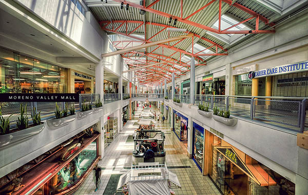 Interior view of the Moreno Valley Mall