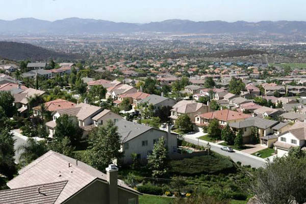 View from house in hills of Murrieta below