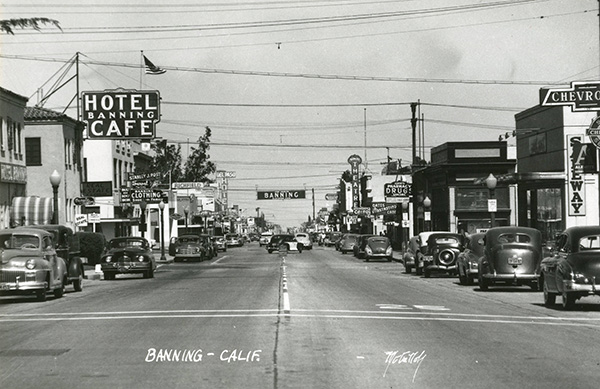Black and white picture of Banning in the early 1900's