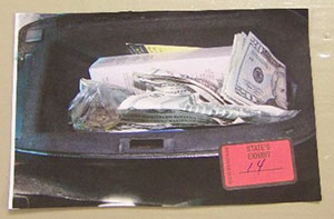 Drugs found in glove box