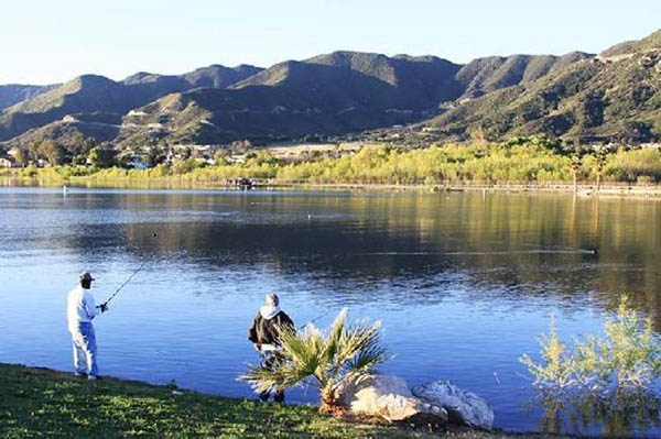 Fishing on Lake Elsinore