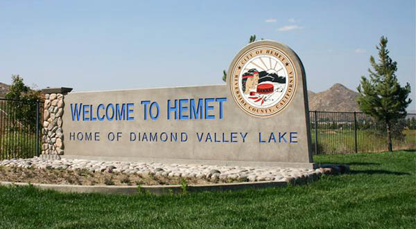 Hemet City Sign