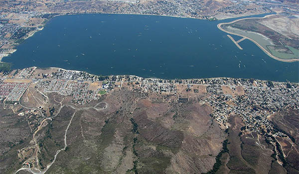 View of Lake Elsinore from above