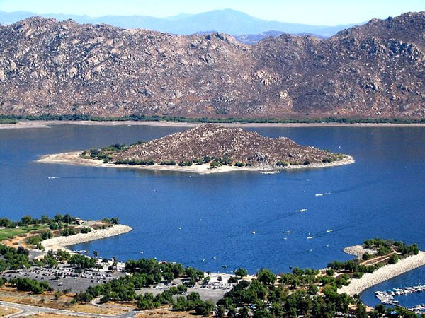 View of Lake Perris, CA