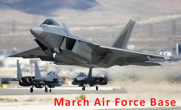 Jet taking off at March Air force Base in Moreno Valley