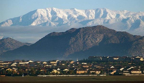 Picture of Menifee with snow-covered mountains in the background