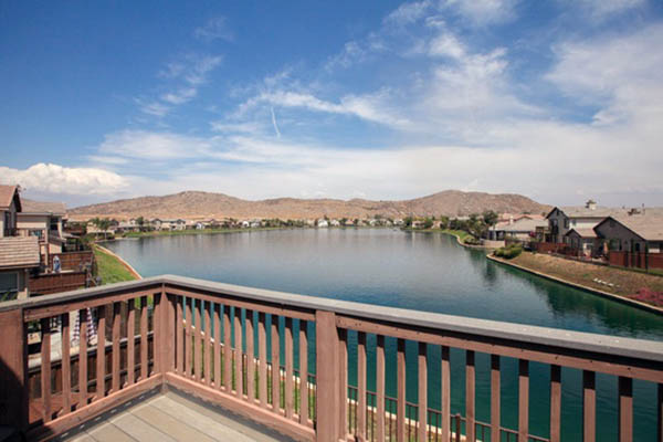 View standing on the deck of Menifee home on a lake