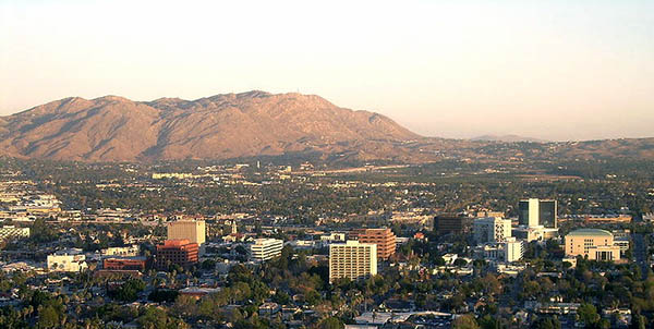 A panorama of Riverside, California, taken from the summit of Mount Rubidoux