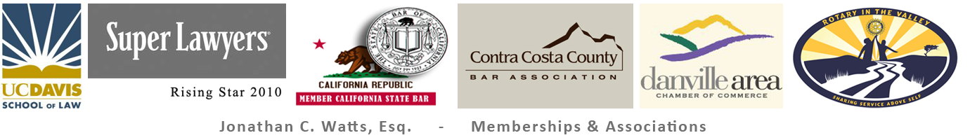 East Bay Business Lawyer - Jonathan C. Watts is a member of these professional associations