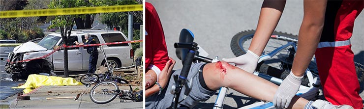 Image of one Bicycle Injury and one Bicycle Fatality