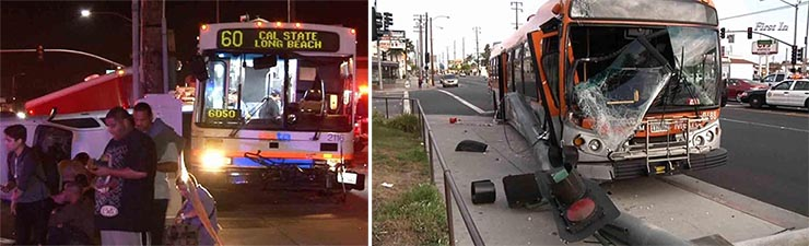 Image of Two Bus Crashes