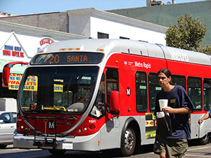 Image of Downtown Metro Bus