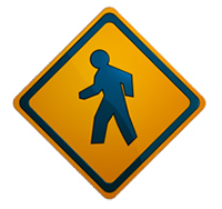 Image of pedestrian sign