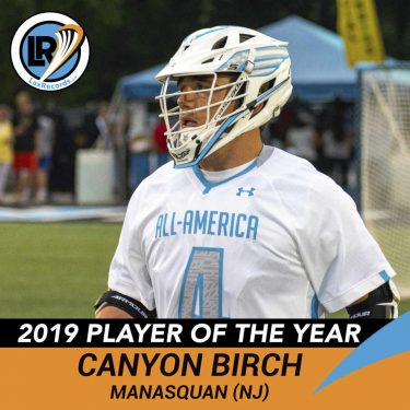 Canyon Birch became the first player in New Jersey history to record 500 career points after amassing 557 points over four years.
