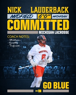 Nick Lauderback from Northville Player Profile by LaxRecords.com