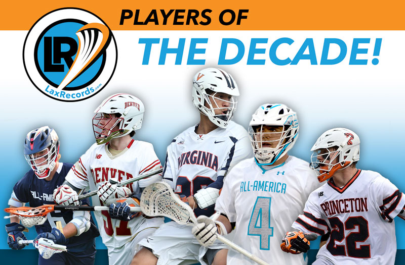 LaxRecords is taking a look at the top high school lacrosse players of the decade, based on career points and saves reported to LaxRecords.com.