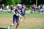 Xavier Arline from Shoreham-Wading River (N.Y.) at the Under Armour Underclassmen games.