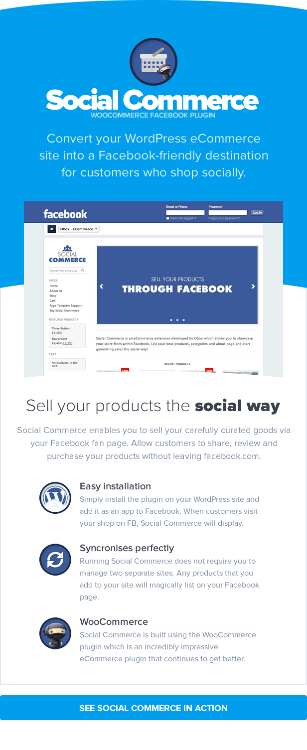 Social Commerce - WooCommerce Facebook Tab 1