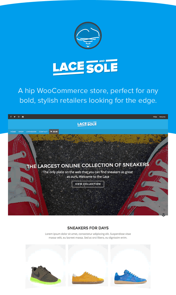 Lace and Sole - eComerce WordPress Theme