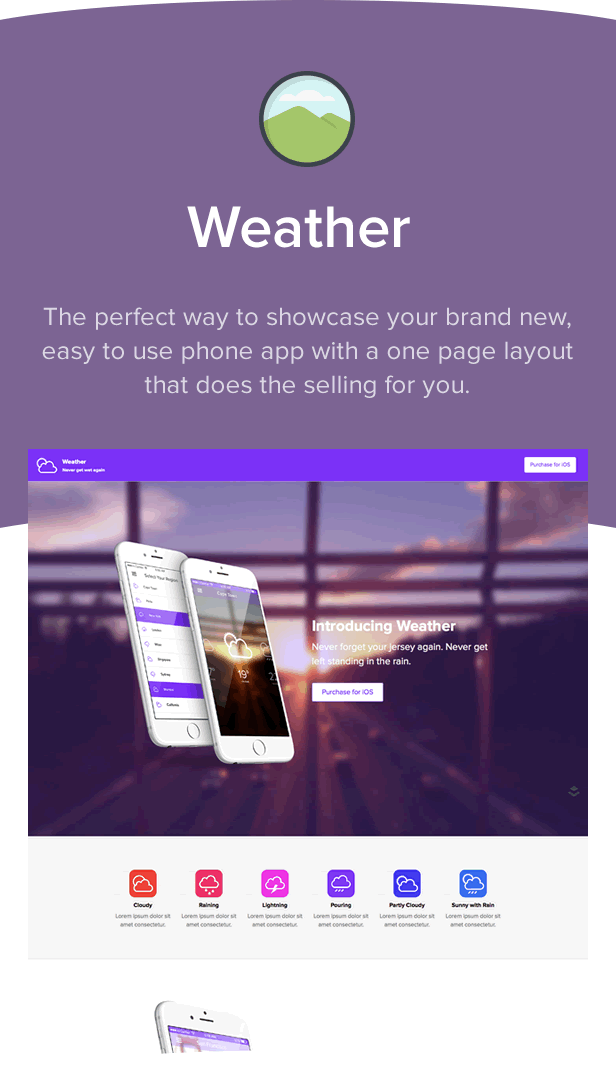 Weather - Layers Application One Page Theme