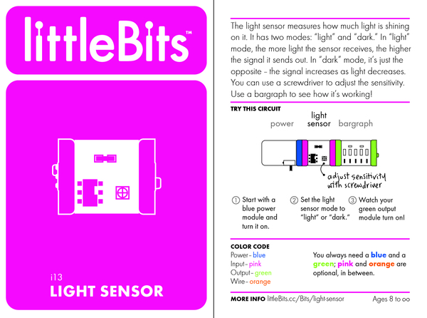 Bit card 11 i13 lightsensor