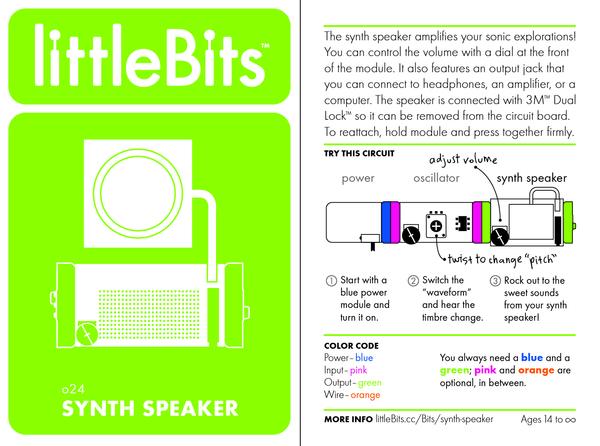 Bit card 55 o24 synthspeaker