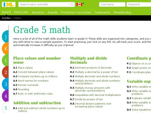 IXL - Grade 5 math practice - LearnCloud