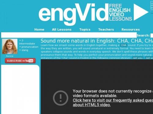 Sound more natural in English: CHA, CHA, CHA! · engVid