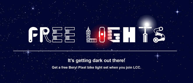 Free set of lights when you join LCC