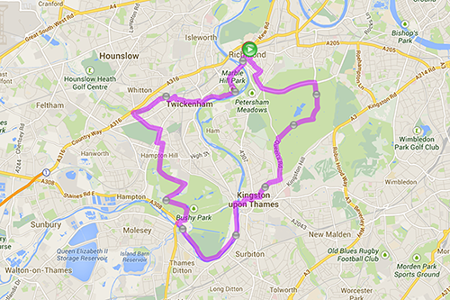 Map Of South West London.London Cycling Campaign