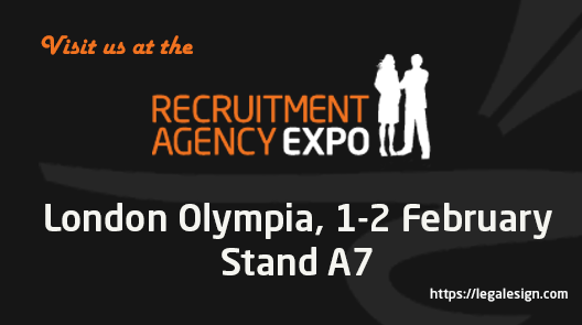 Legalesign at the Recruitment Expo, Olympia 1-2 February