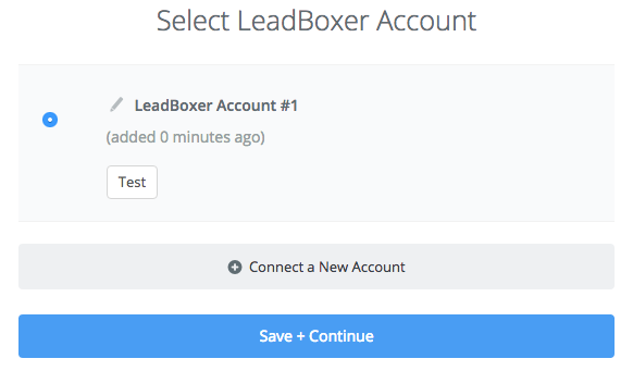 LeadBoxer connection successfull
