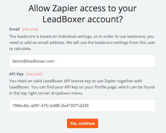 LeadBoxer API Key