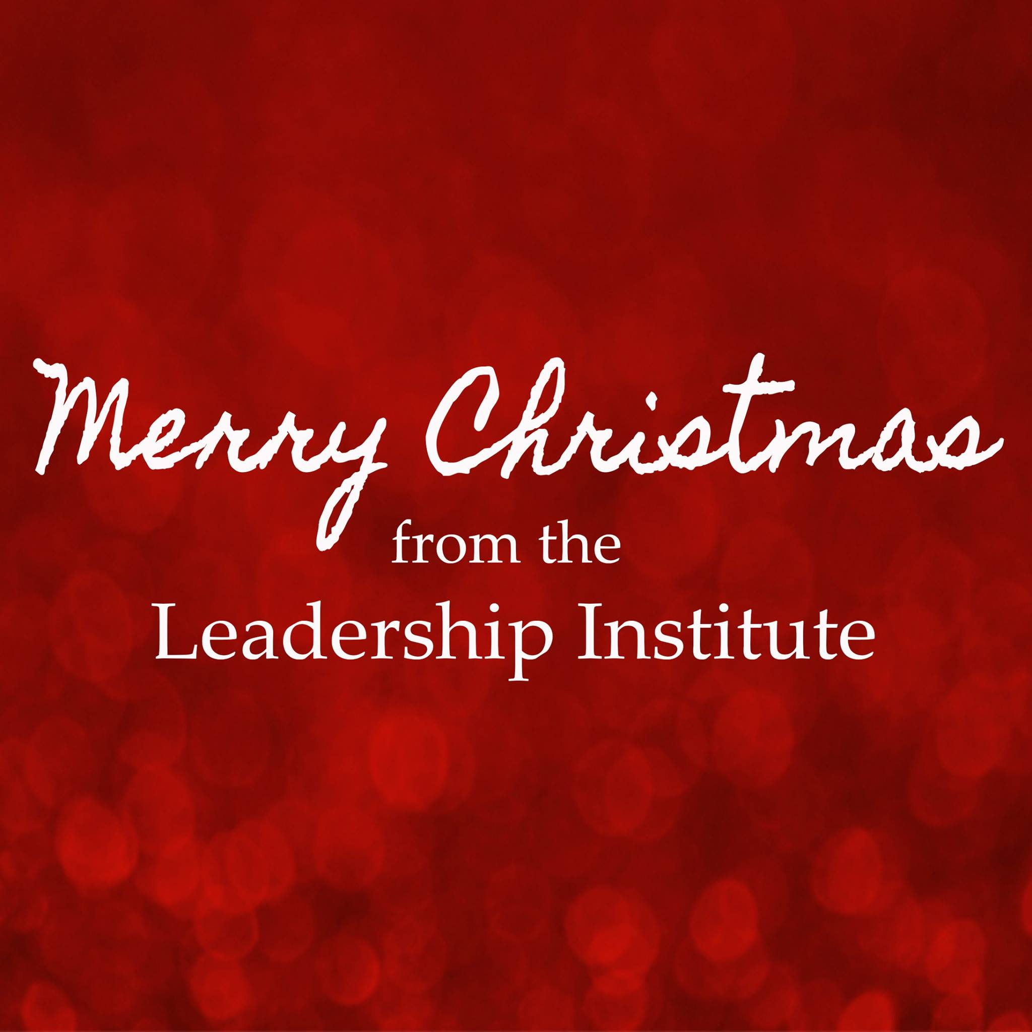 Merry Christmas from the Leadership Institute!