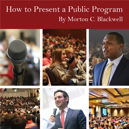 How to Present a Public Program