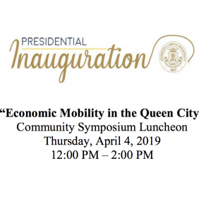 Johnson C. Smith University Presidential Inauguration - Economic Mobility in the Queen City Community Symposium Luncheon